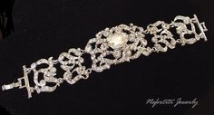 Crystal bridal bracelet Wedding by nefertitijewelry2009 on Etsy, $65.90