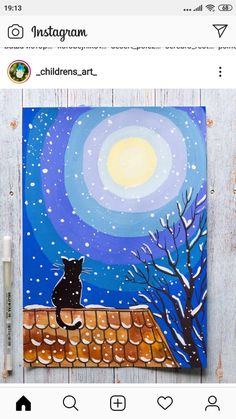 canvas painting for kids Art Lessons For Kids, Art Lessons Elementary, Art For Kids, Winter Art Projects, Winter Crafts For Kids, Winter Painting, Painting For Kids, Art Drawings For Kids, Drawing For Kids