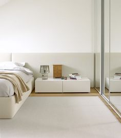 At Home: In the Bedroom. Minimal and linear.