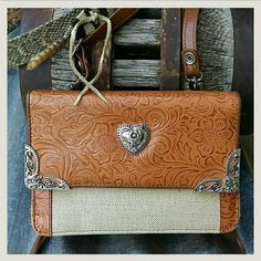"""It's Gettin' Western in Here! Tons of pockets in this little Coldwater Creek number. In great condition, small stains on inside label. 5"""" tall, 7.5"""" across, approx 2- 2.5"""" thick. Shoulder strap 45"""" long. Cowgirl, Southwestern, Boho, Bohemian, Brighton Coldwater Creek Bags Mini Bags"""