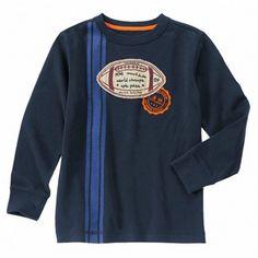 Camiseta Gymboree Football Stripe manga larga