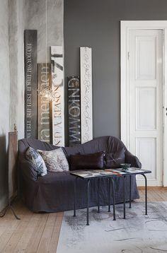 Интерьер, Современный, Декор,  буквы,декор стен,надписи,подушки,серый,