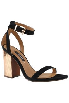 ZANDER - BLACK SUEDE from REMAC. The sophisticated sandal is crafted in rich lux suede with a mirrored wrapped heel. Fashion heel height and adjustable ankle strap buckle for all day wear and comfort. $285