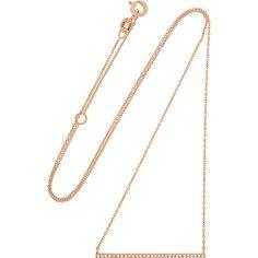 Carbon & Hyde Carbon & Hyde Woman 14-karat Rose Gold Diamond Necklace Rose Gold Size WDEn4Sb