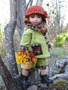 """Fall Flower Market by Tuula Fits Dianna Effner 13"""" Little Darling to A """"T"""" 