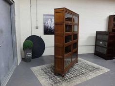Antiques By Design - Macey Oak Arts + Crafts Double Wide Stacking Bookcase