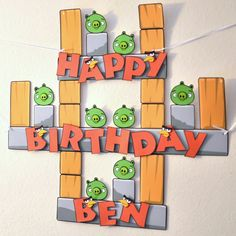 Angry Birds Banner Custom Name 18 letters by bcpaperdesigns, $30.00