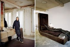 Rick Owens'Paris Home #interiors #paris #rickowens #bedroom #bathroom