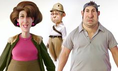 25 Creative and Awesome 3d Character Designs - Front and Profile View