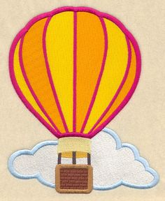Hot Air Balloon design (D1184) from www.Emblibrary.com