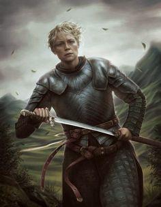 O Mundo de Crisinah: Ilustrações Inspiradas em Game of Thrones - BRIENNE SUA LINDA