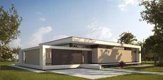 Modern Home Designs Bungalow, Arch House, Facade House, Residential Architecture, Architecture Design, Studio Apartment Plan, 3d Home, Minimalist Architecture, Prefab Homes
