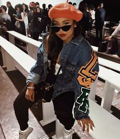 Love this outfit Dope Outfits, Trendy Outfits, Fall Outfits, Fashion Outfits, Womens Fashion, Swag Fashion, Urban Fashion Women, Fashion Rings, Style Année 90
