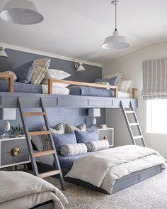 Lovely Lavender Fairytale Girl's Bedroom — Decor For Kids Bunk Bed Rooms, Bunk Beds Built In, Girls Bunk Beds, Full Bunk Beds, Build In Bunk Beds, Built In Beds For Kids, Bunk Bed King, Cabin Bunk Beds, Loft Bunk Beds