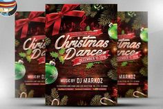 cool Christmas Dance Flyer Template CreativeWork247 - Fonts, Graphics, Them...