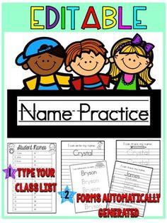 Name Practice {Edita