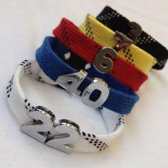 Your place to buy and sell all things handmade - Your place to buy and sell all things handmade Hockey Skate Lace Bracelet with Number Slider Charms Hockey Girls, Hockey Mom, Field Hockey, Hockey Teams, Hockey Players, Hockey Stuff, Hockey Girlfriend, Baseball Field, Stars Hockey