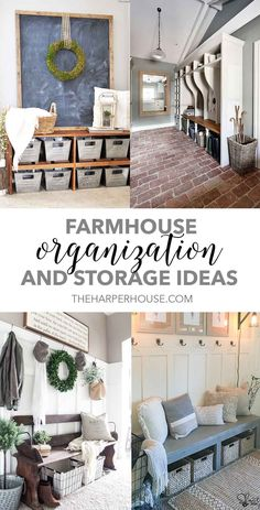 These pretty farmhouse storage and organization ideas will give you some great tips to start the school year off right!