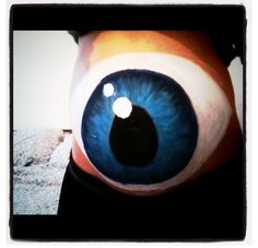 Pregnancy belly paint eyeball
