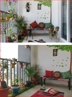 Fabulous Indian Home Decor Ideas - In recent years, ethnic home decor has become increasingly popular when deciding on a theme for decorating. Among the first of the choices in cultural. Home Decor Furniture, Home Decor Bedroom, Diy Room Decor, Living Room Decor, Indian Room Decor, Ethnic Home Decor, Small Balcony Garden, Small Balcony Decor, Balcony Gardening
