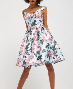 Chi Chi London BEATRICE Sukienka rozkloszowana w kwiaty multicolor