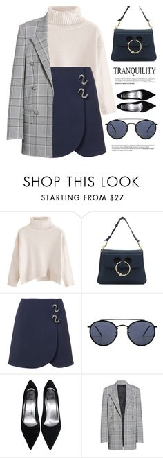 """""""Tranquility"""" by smartbuyglasses ❤ liked on Polyvore featuring J.W. Anderson, TIBI, Ray-Ban, Alexander Wang and Blue"""