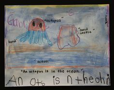 Pre-K students at Meeting Street Academy in Charleston, SC use their imaginations to figure out what lives in the #ocean. MSA founder Ben Navarro champions educational opportunities for under-resourced families.  Elementary Art education is a key component of his vision.  #MeetingStreetAcademy #Art #Education #SCSchools #BenNavarro #ShermanFinancialGroup