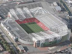 Old Trafford stadium is the home of the infamous Manchester United football club; the stadium itself is a completely seated stadium meaning that there are no places available for spectators who wish to stand. Soccer Stadium, Football Stadiums, Stadium Tour, Old Trafford, Stevenage, Premier League Champions, Manchester United Football, Salford, World Football