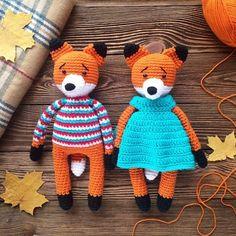 Вязаные игрушки лисы крючком