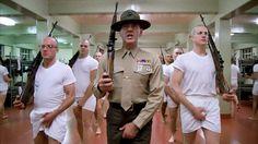 R. Lee Ermey as Gunnery Sergeant Hartman in Stanley Kubrick's Full Metal Jacket (1987)