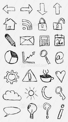 Hand-Drawn Sketch Icon Set