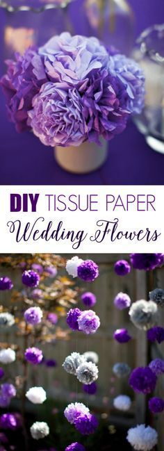 DIY Tissue Paper Wedding Flowers! Instructions and supplies -->…