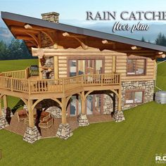 Introducing the 1039 Rain Catcher Floor Plan! Introducing the 1039 Rain Catcher Floor Plan! … Introducing th Log Home Floor Plans, Basement Floor Plans, Basement Flooring, Stair Well, Traditional Staircase, Log Home Designs, Foyer Design, Timber House, Foyer Decorating
