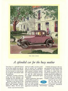 1929 Model A Ford Coupe Ad by Boats-n-Cars, via Flickr