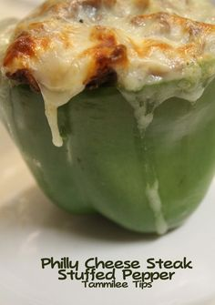 Philly Cheese Steak Stuffed Pepper Recipe - Tammilee Tips