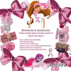 Zamburiña y Barbarella unidos contra el cáncer de mama en La Vie en Rose Dinner