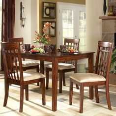 TRIBECCA HOME Daphne Burnished Cherry 5-piece Mission Casual Dining Set - Overstock™ Shopping - Big Discounts on Tribecca Home Dining Sets