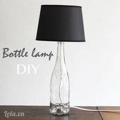 Chế tạo cây đèn ngủ từ chai lọ   Lola.vn