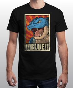 """Blue!!!"" is today's £8/€10/$12 tee for 24 hours only on www.Qwertee.com Pin this for a chance to win a FREE TEE this weekend. Follow us on pinterest.com/qwertee for a second! Thanks:)"