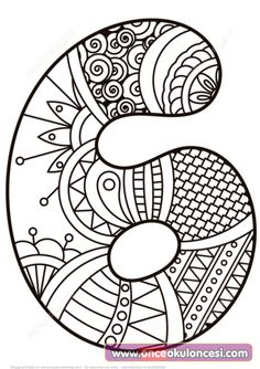 Zentangle Numbers Coloring pages. Select from 31983 printable Coloring pages of cartoons, animals, nature, Bible and many more. Mandala Coloring Pages, Colouring Pages, Coloring Pages For Kids, Coloring Sheets, Coloring Books, Printable Numbers, Printable Crafts, Printables, Math Numbers