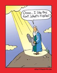 love this, haha... the font is called God, LOL!