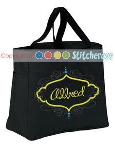 Stitcheroos, Personalized Embroidered essential tote, $16.00