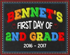 First Day of School Chalkboard First Day of by MemoryStruckDesigns
