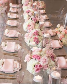 These easy floral pink centerpieces are GORGEOUS! So simple to make and perfect as table decor for Valentine's Day, Easter, a spring wedding, bridal shower or baby shower for a girl. Pink Centerpieces, Bridal Shower Centerpieces, Baby Shower Decorations, Wedding Decorations, Brunch Party Decorations, Elegant Bridal Shower, Elegant Wedding, Bridal Showers, Bridal Shower Pink