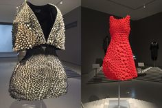 Shoes and Dresses that Move on Their Own: Left: Iris van Herpen and Neri Oxman's Anthozoa Cape and Skirt right: Nervous System's Kinematic Petal Dress 3d Printed Dress, Printed Shoes, Neri Oxman, Iris Van Herpen, Museum Of Fine Arts, Industrial Style, 3 D, 3d Printing, Skirts