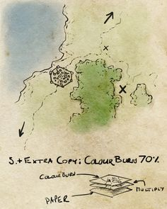 A quick 5 minute tutorial on turning any map into an aged paper handout. Super quick, and atmospheric. Dungeon Maps, How To Age Paper, Fantasy Map, Cartography, Map Art, Writing Inspiration, Drawing Tips, Dungeons And Dragons, Photoshop