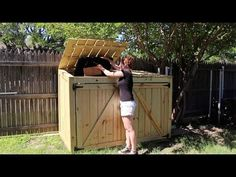 How to Build a Trash Can Shed - Plans available!                              …