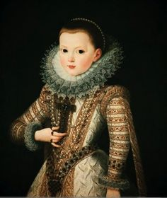 "Portrait of Infanta Ana Mauricia"" by Juan Patoja de la Cruz. 1607 oil on canvas. In the collection of The Baltimore Museum of Art, Baltimore, MD. Beautiful!"
