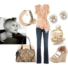 Pure Romance, created by mom23jmc on Polyvore. I love this look on so many levels. My goal weight outfit I think.
