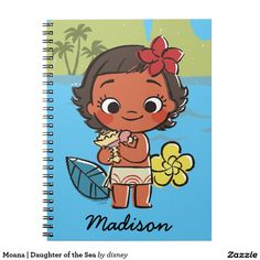 Moana | Daughter of the Sea. Regalo, gift. Producto disponible en tienda Zazzle. Product available in Zazzle store. Link to product: http://www.zazzle.com/moana_daughter_of_the_sea_spiral_notebook-130329011282292284?CMPN=shareicon&lang=en&social=true&rf=238167879144476949 #cuaderno #notebook #moana